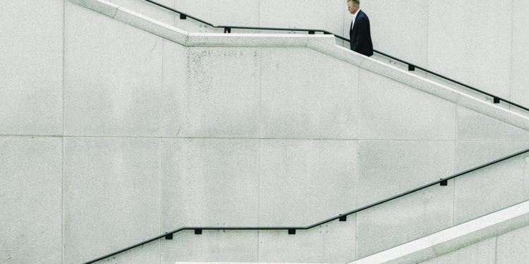 Man walking upstairs, Joshua Ness